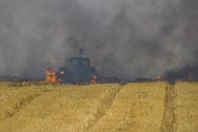Image result for palestinians burn farm land