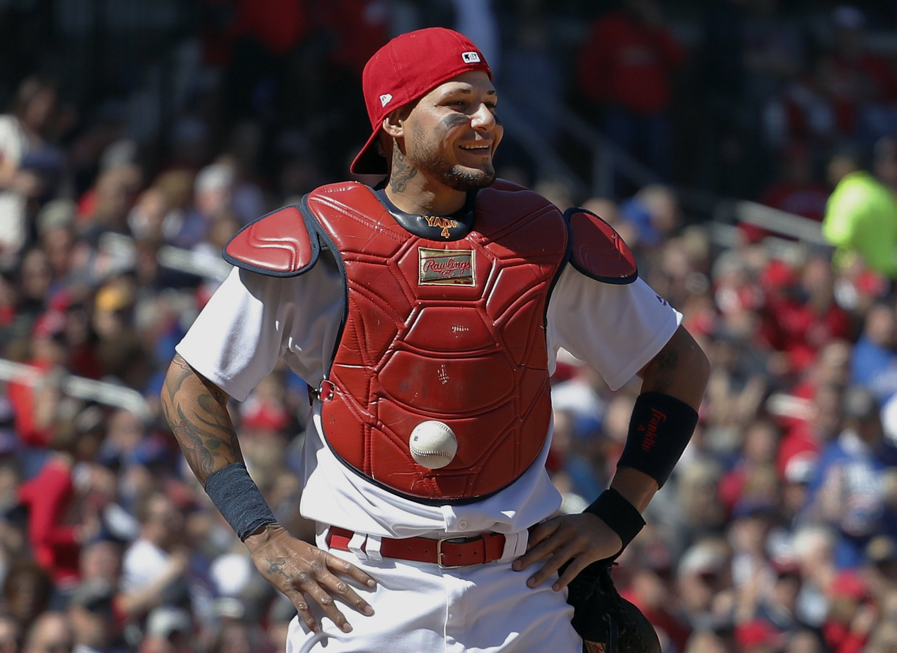 Not so sticky: MLB says no violation in Molina stuck ball