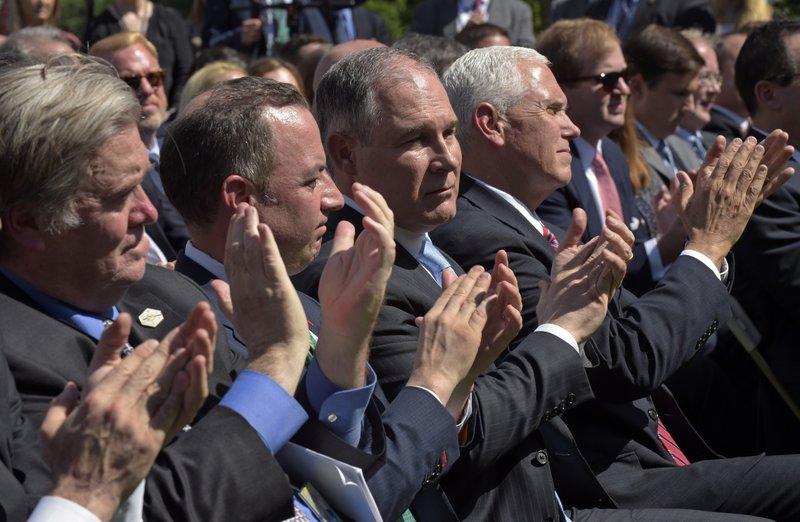 Steve Bannon, Reince Priebus, Scott Pruitt, Mike Pence