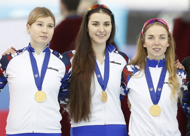 Angelina Golikova, Olga Fatkulina, Elizaveta Kazelina