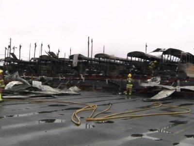 School Bus Garage Fire Hits Pa. School District