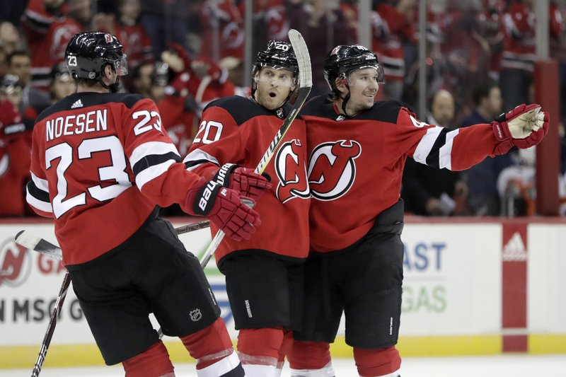 promo code f0644 37498 Kyle Palmieri helps Devils beat Panthers 3-2
