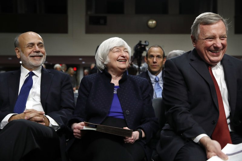 Janet Yellen, Ben Bernanke, Dick Durbin