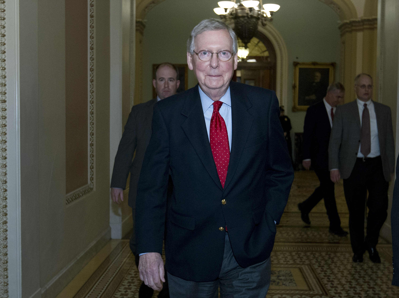 The Latest: Senate GOP plans a vote aimed at ending shutdown