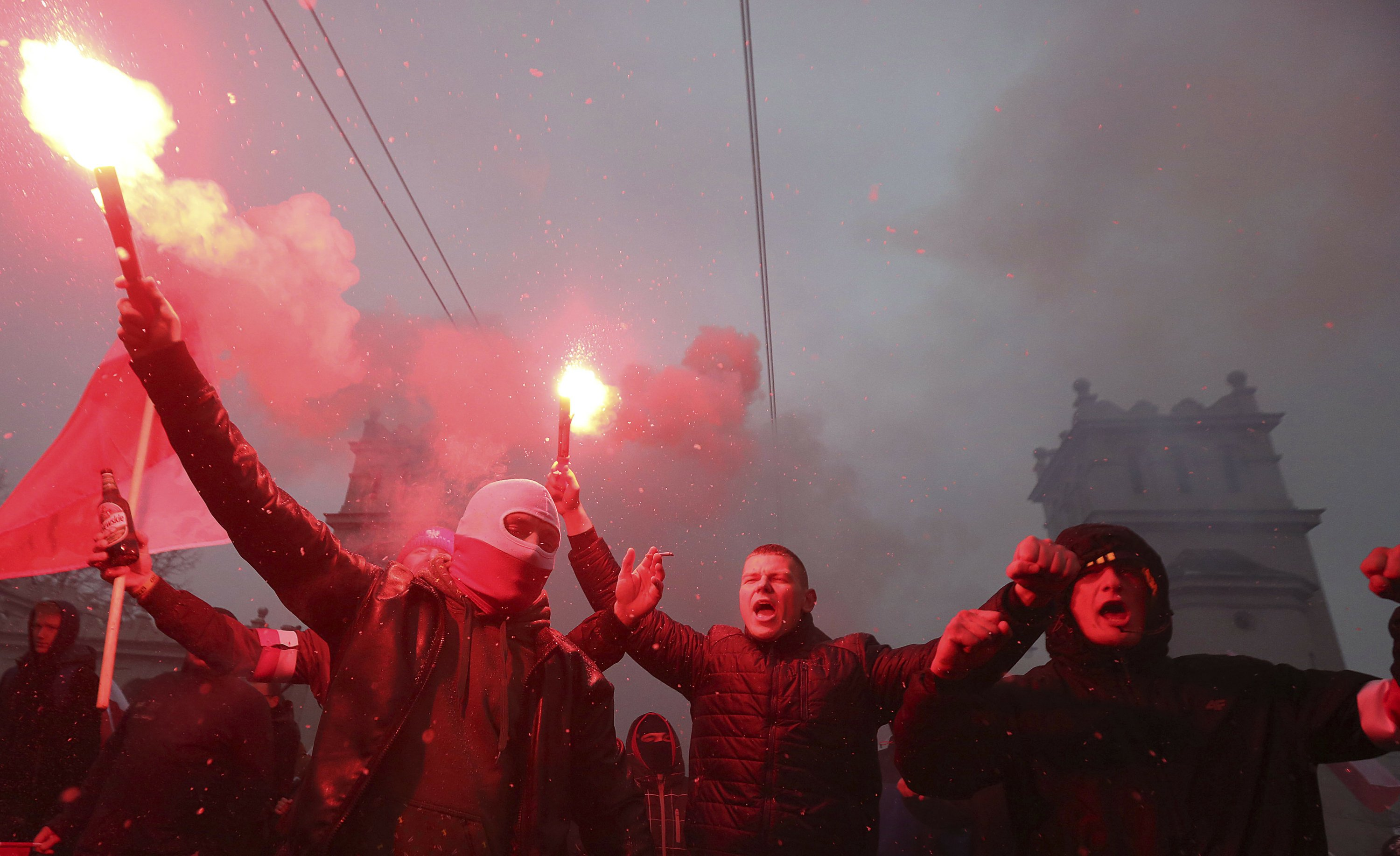 Polish far-right march goes global, drawing people from afar