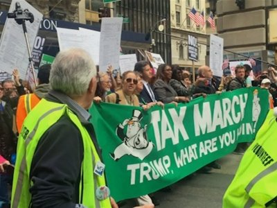 Raw: Thousands Attend Tax Day Rally in NYC