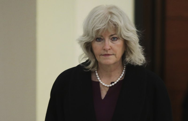 Kathleen Bliss, lawyer for actor and comedian Bill Cosby, arrives for the sixth day of his sexual assault retrial at the Montgomery County Courthouse in Norristown, Pennsylvania
