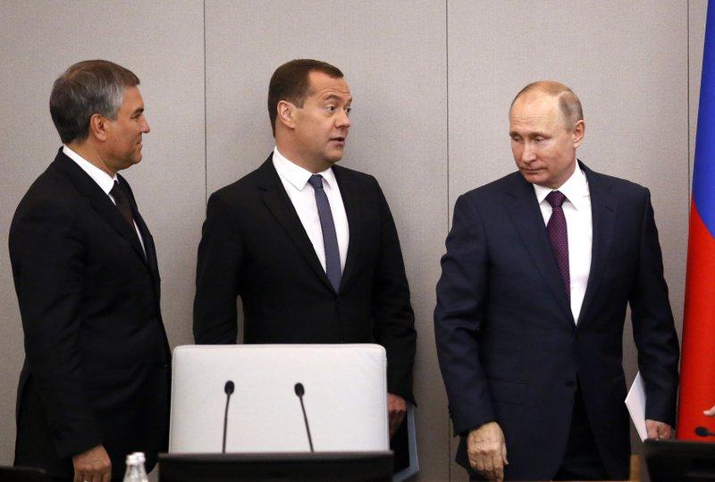 Vladimir Putin, Dmitry Medvedev, Vyacheslav Volodin