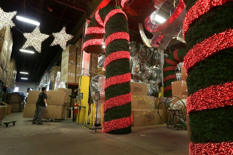 holiday decorations are stored prepared and shipped from the american christmas warehouse in mount vernon ny thursday nov 9 2017 american christmas