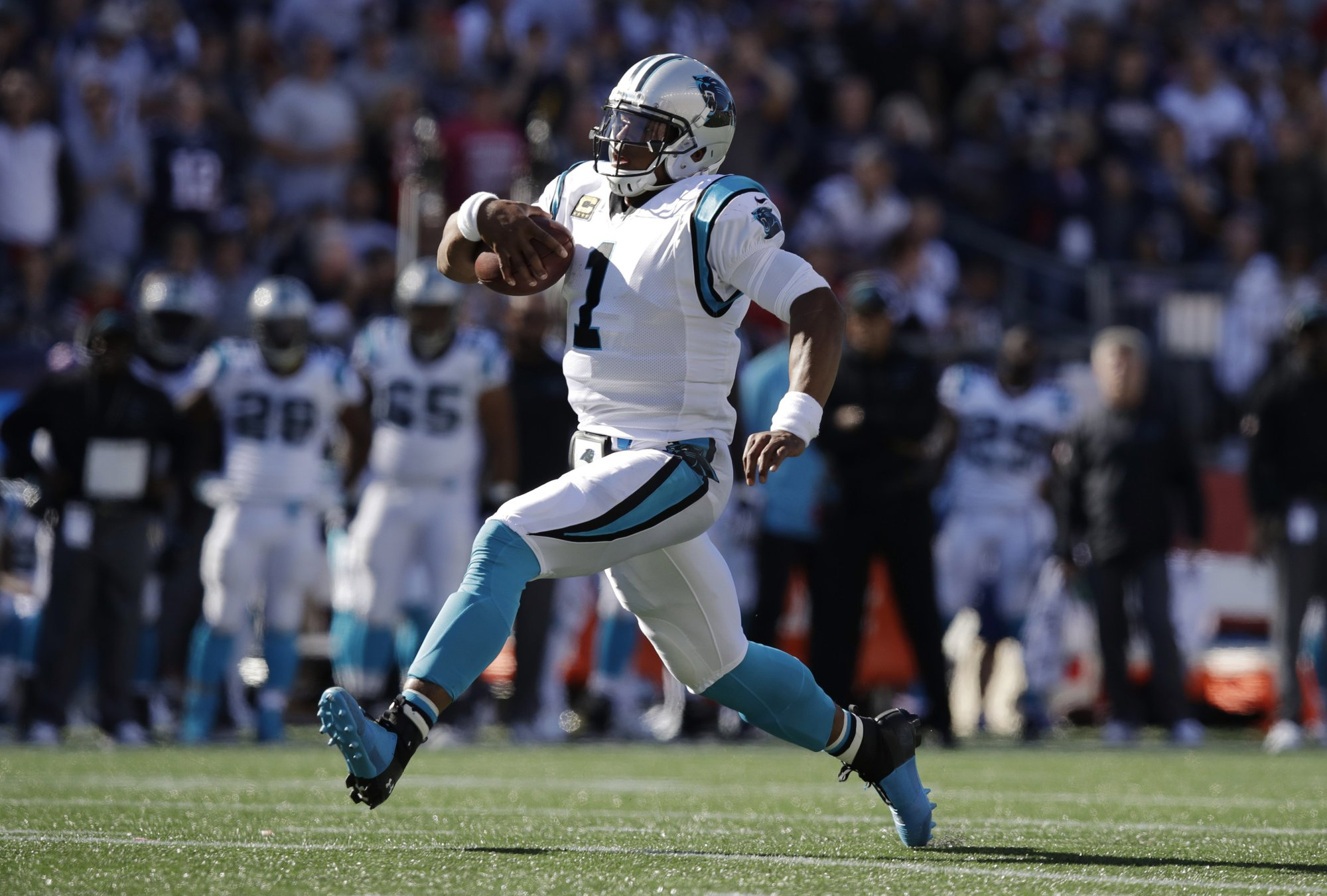 c34a50e82 Panthers offense may need QB Newton to run to be successful