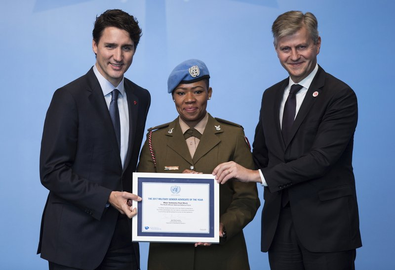 Justin Trudeau, Seitebatso Pearl Block, Jean-Pierre Lacroix