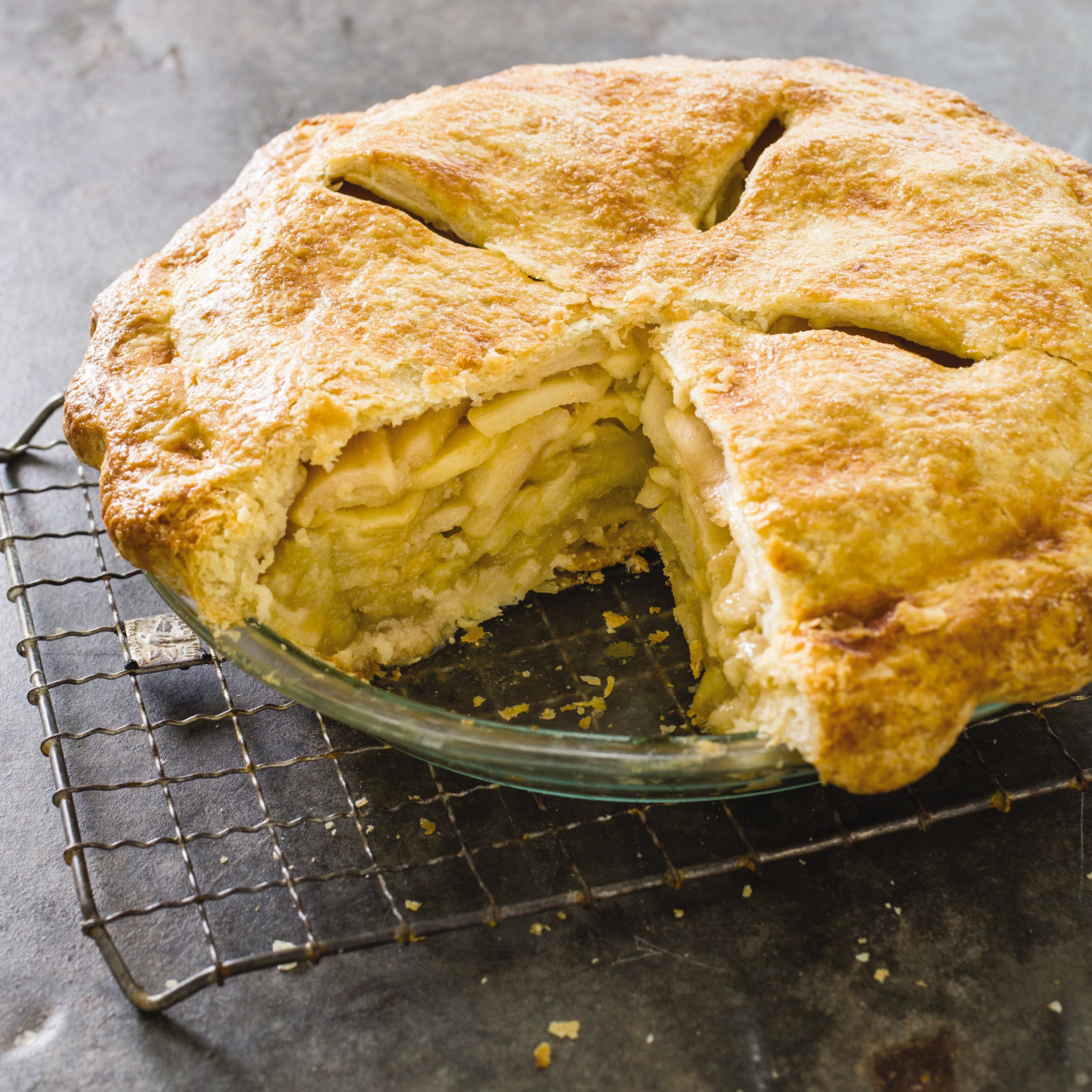 The secret to a deep-dish apple pie? Precooking the apples