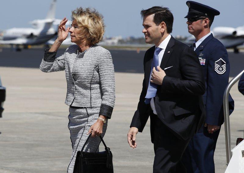Betsy DeVos, Sen. Marco Rubio