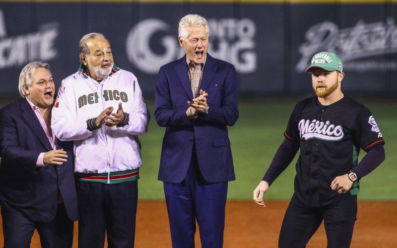 Carlos Bremer, Carlos Slim, Bill Clinton, Saul Canelo Alvarez