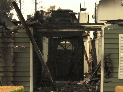 Residents Return to Homes Destroyed by Fire