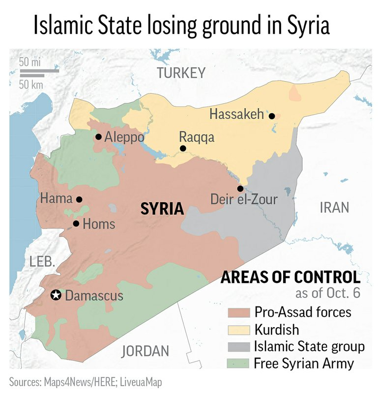 SYRIA STRONGHOLDS