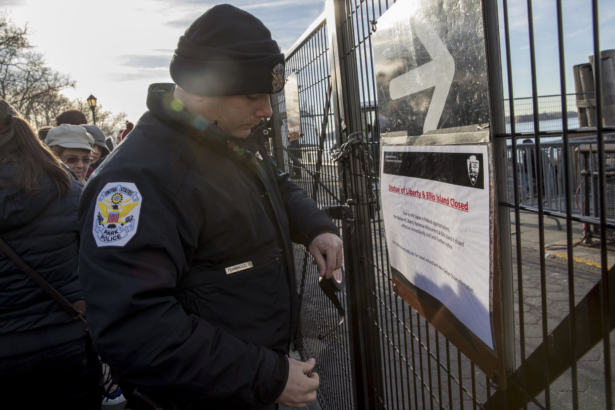 Signs Of Government Shutdown Spotty But Symbolic