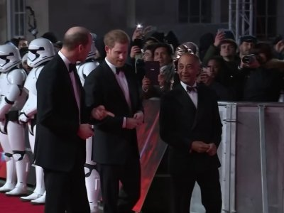 Royal Stormtroopers! Prince William and Harry attend 'Last Jedi' red carpet