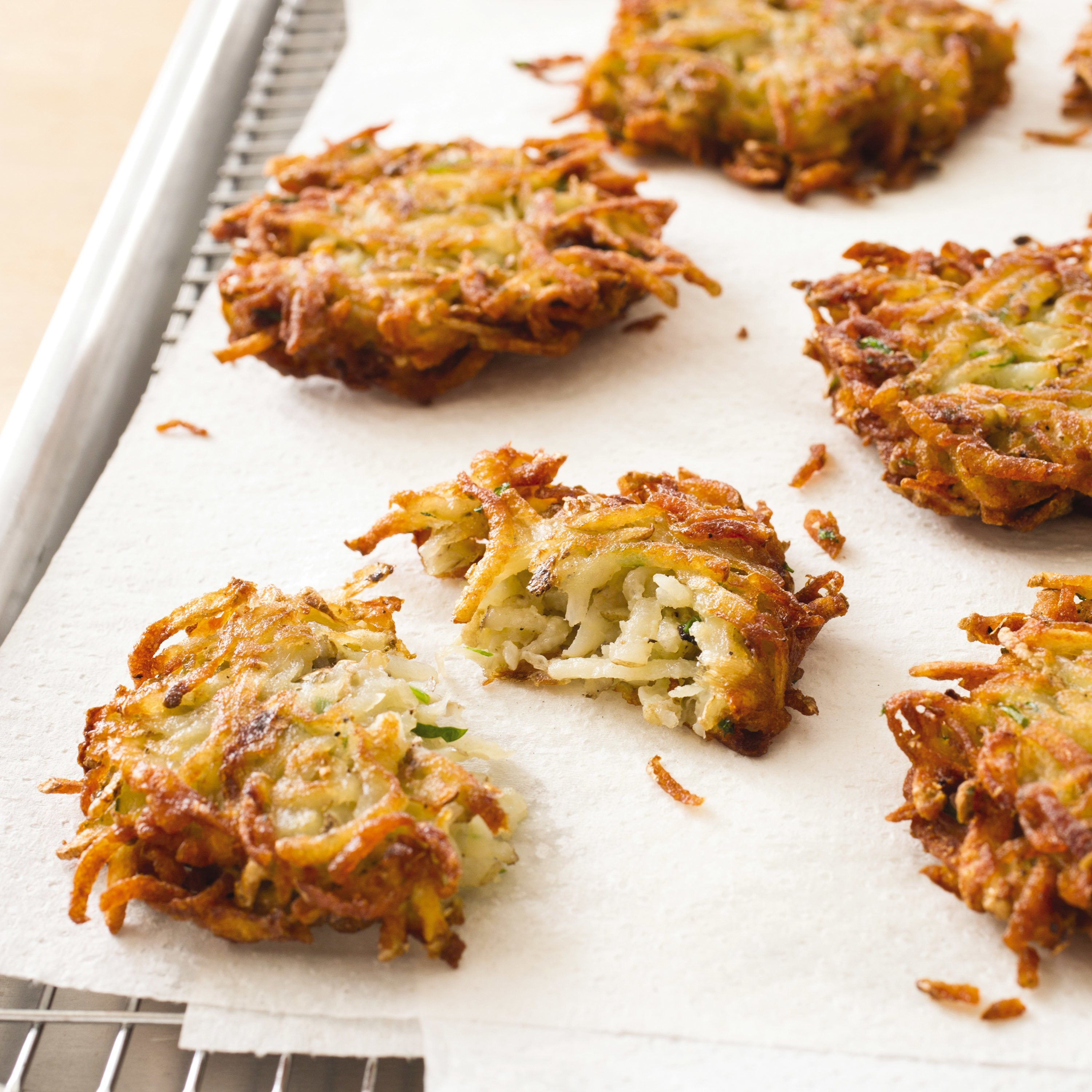 Crispy potato pancakes are the perfect base for toppings
