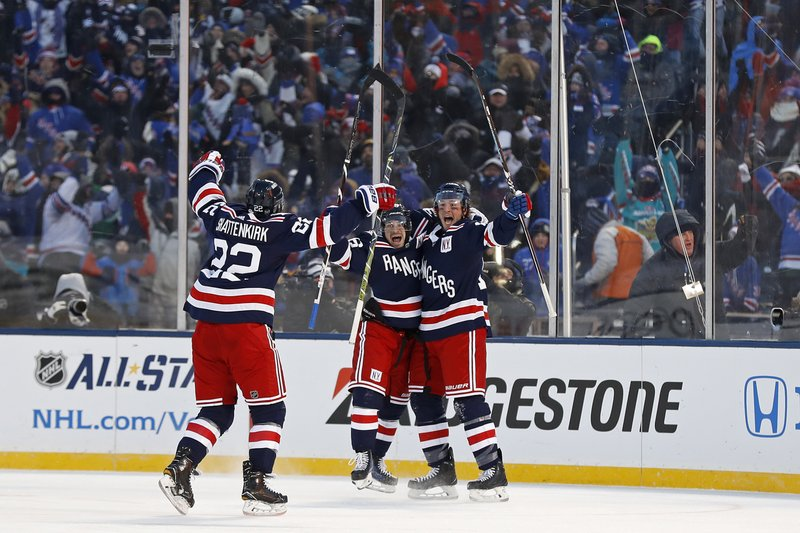 new products 44dab 9d124 Miller's OT goal lifts Rangers past Sabres in Winter Classic