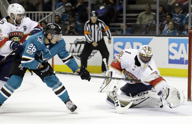 Luongo Stops 35 Shots In Panthers 2 0 Win Over Sharks