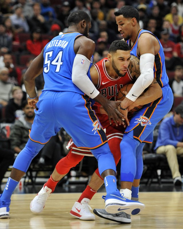 Denzel Valentine, Andre Roberson, Patrick Patterson
