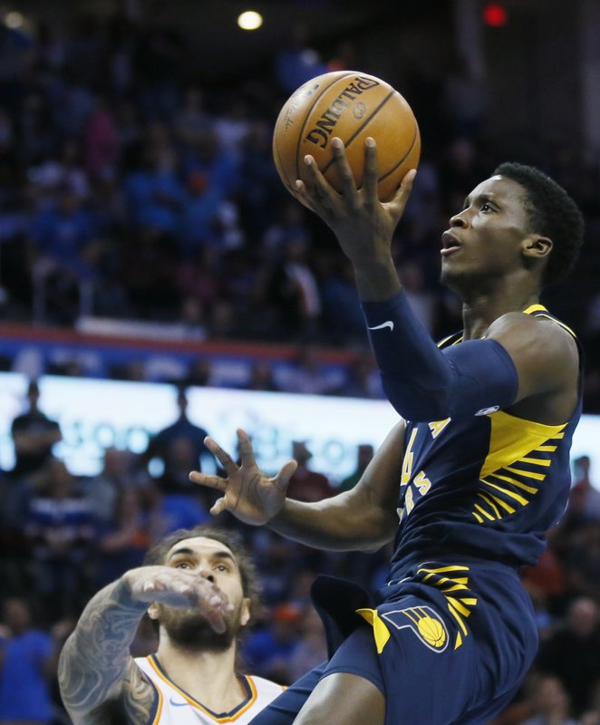 Paul George Oklahoma City Thunder Victor Oladipo Indiana Pacers