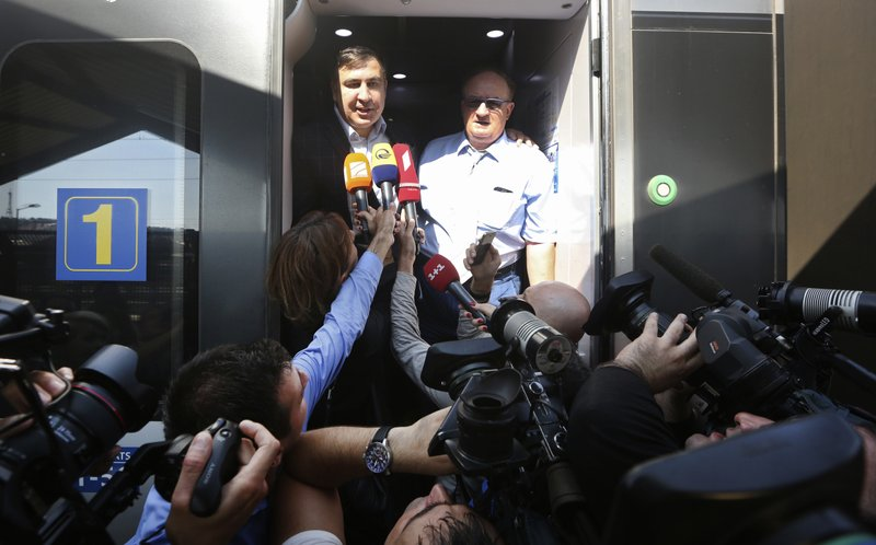 Mikheil Shaakashvili, Jacek Saryusz-Wolski