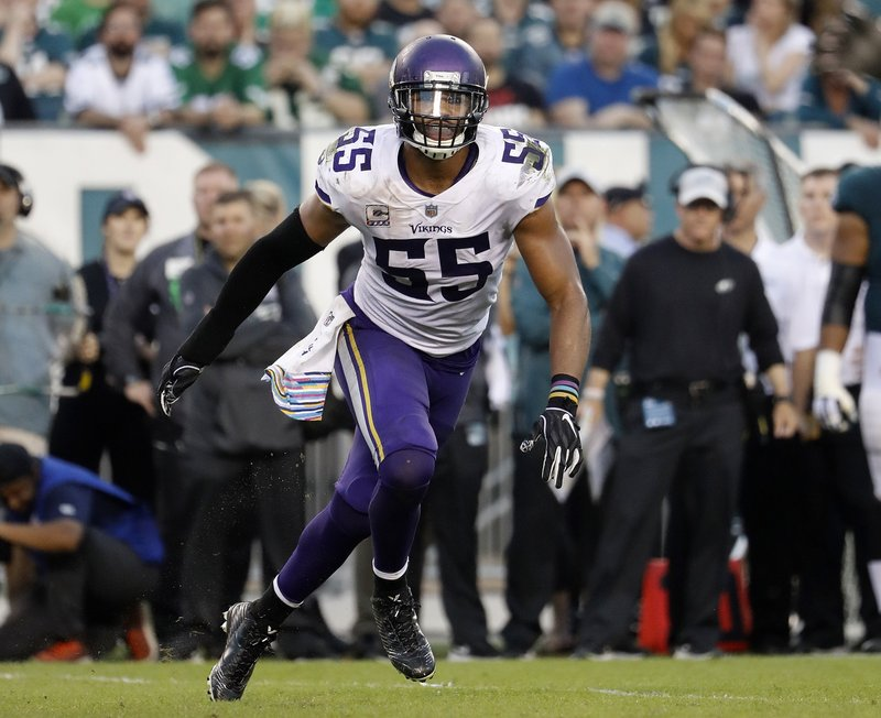 35c91a36 AP source: Vikings keep LB Barr in place on 5-year deal