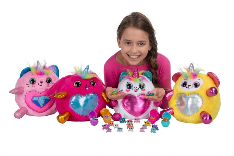 ZURUHatches New Rainbocorns, Collectible Mystery Egg Plush with Sequin Surprise