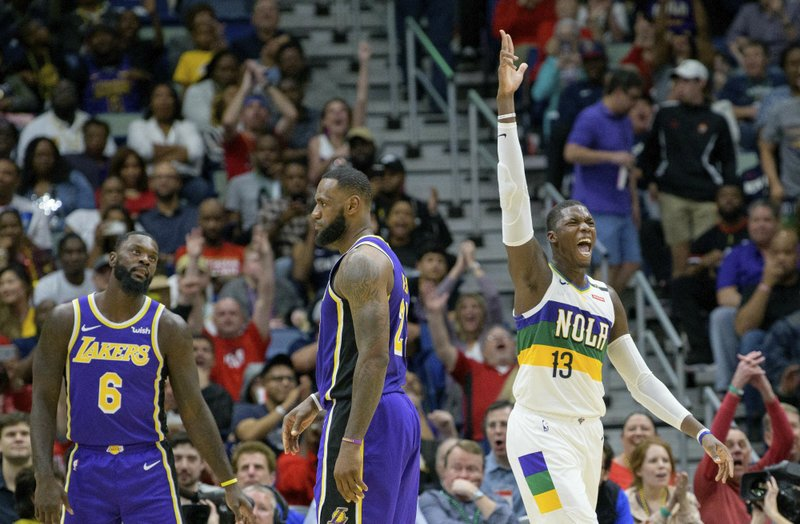 Holiday Pelicans Stunt Lakers Playoff Push 128 115