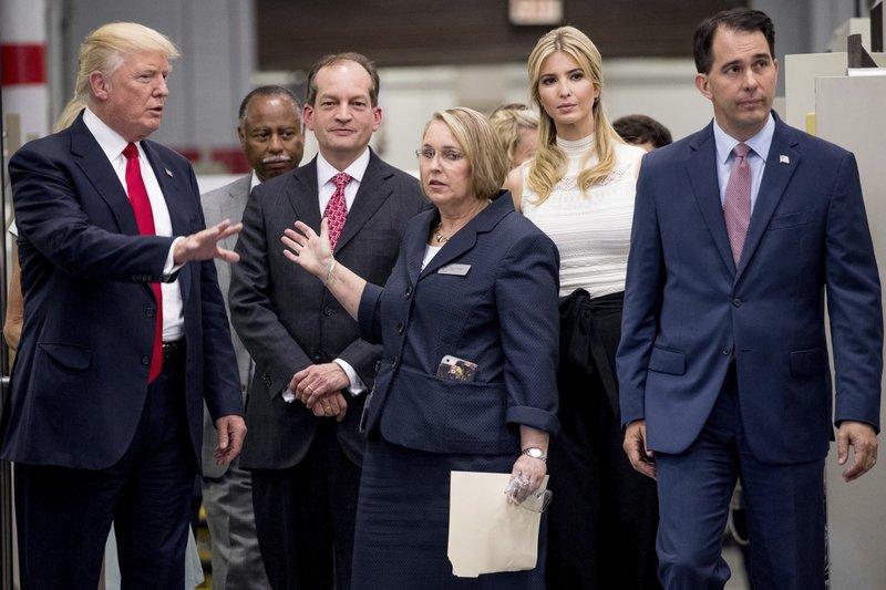 Donald Trump, Alexander Acosta, Ivanka Trump, Scott Walker