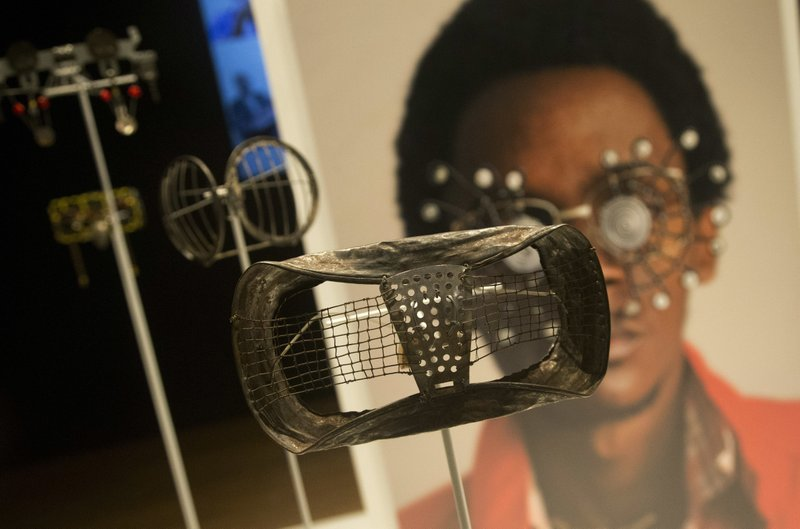 Wire eyeglasses are shown at the high museum of art wednesday oct 11 2017 in atlanta making africa a continent of contemporary design opens saturday