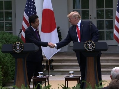 Trump Says Japan, SKorea 'Helpful' Before Summit