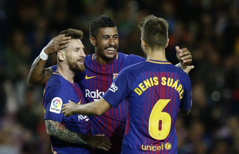 Lionel Messi, Paulinho, Denis Suarez