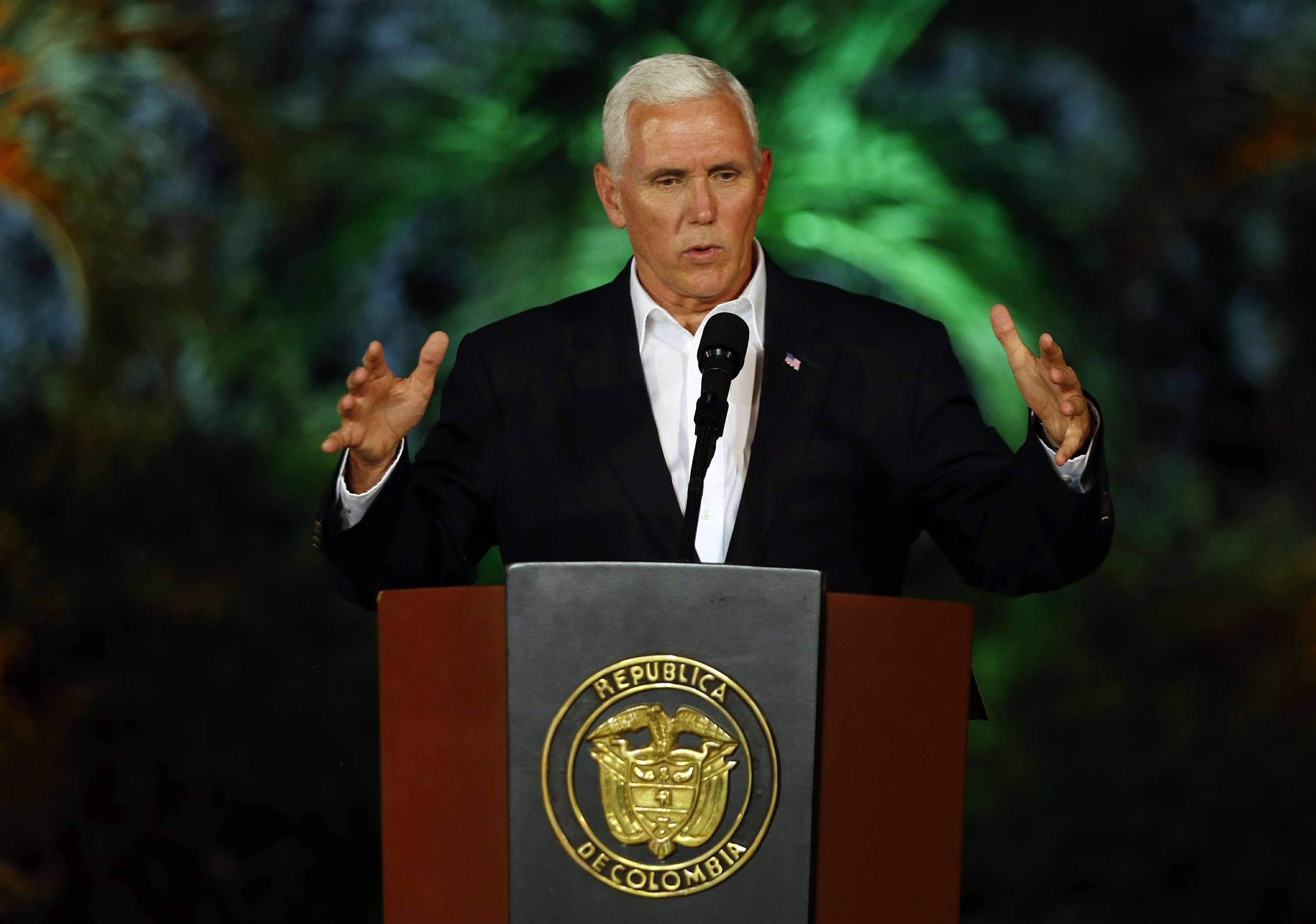 In Colombia, Pence tries to strike balance on Venezuela