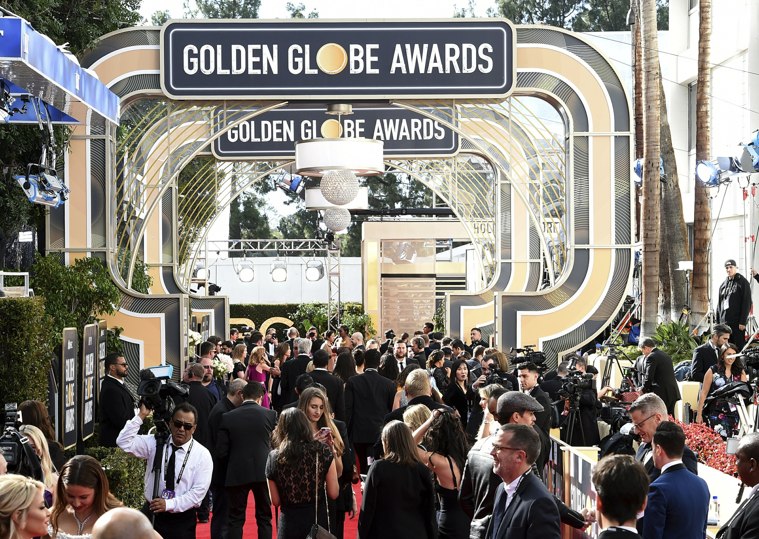 """The Latest: """"Crazy Rich Asians"""" Yeoh says Globes mean a lot"""