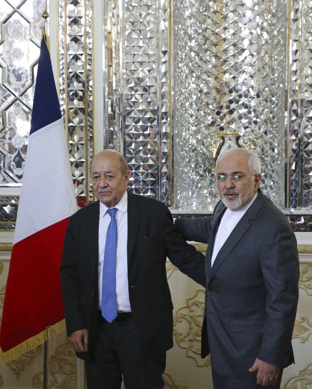 Mohammad Javad Zarif, Jean-Yves Le Drian