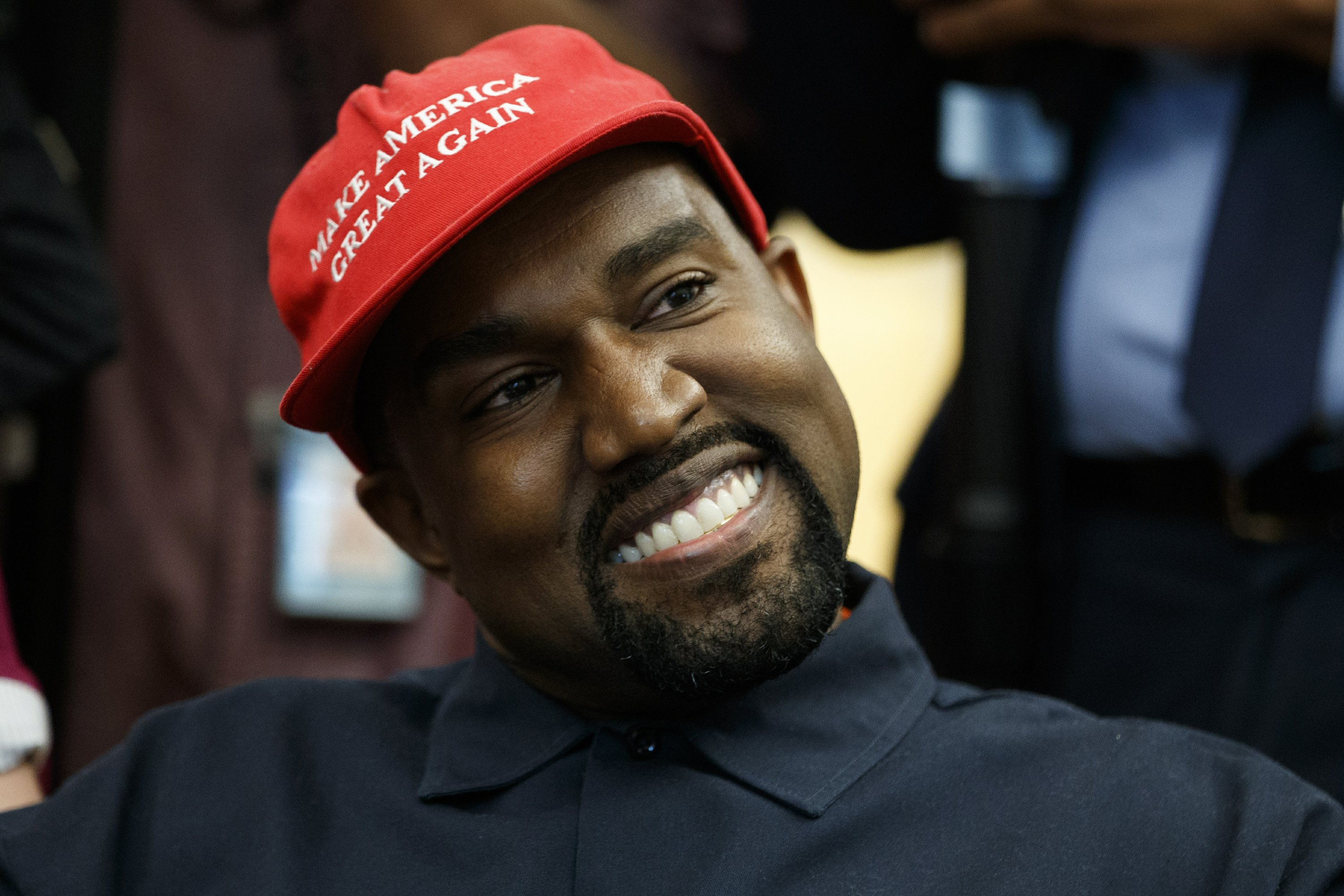 Kanye West In Maga Hat Delivers Surreal Oval Office Show