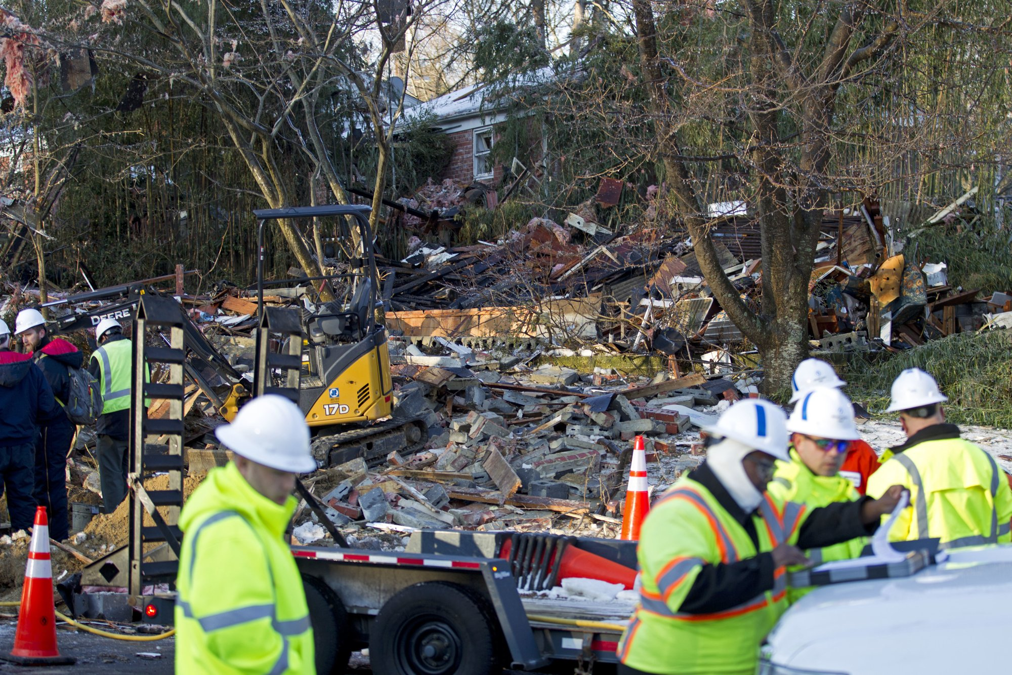 Home explodes in DC suburb: 'It's just a pile of bricks'