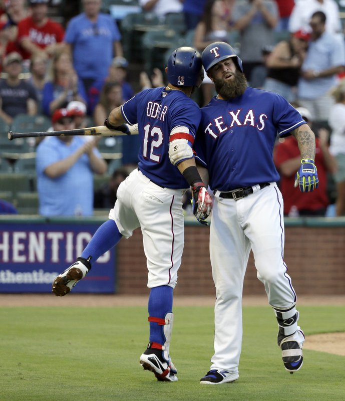 Rougned Odor, Mike Napoli