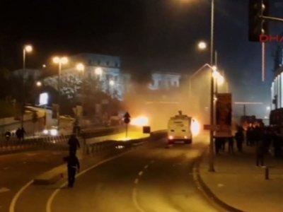 Raw: Twin Blasts Near Stadium Rock Istanbul