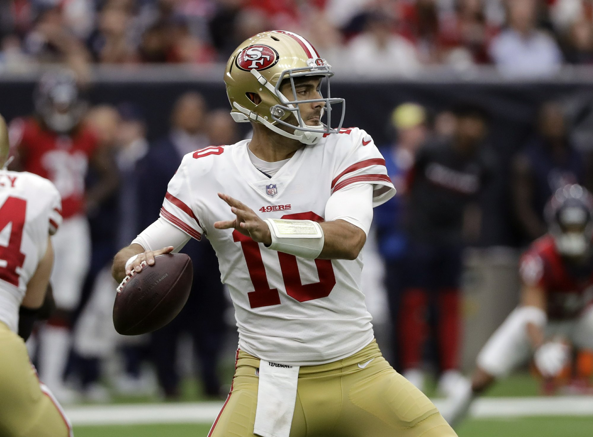 ced2fe975 Garoppolo leads 49ers to 26-16 win over Texans