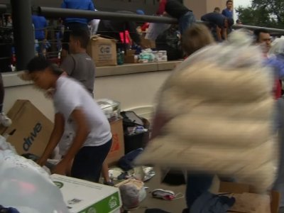 Houston Megachurch Becomes Flood Shelter