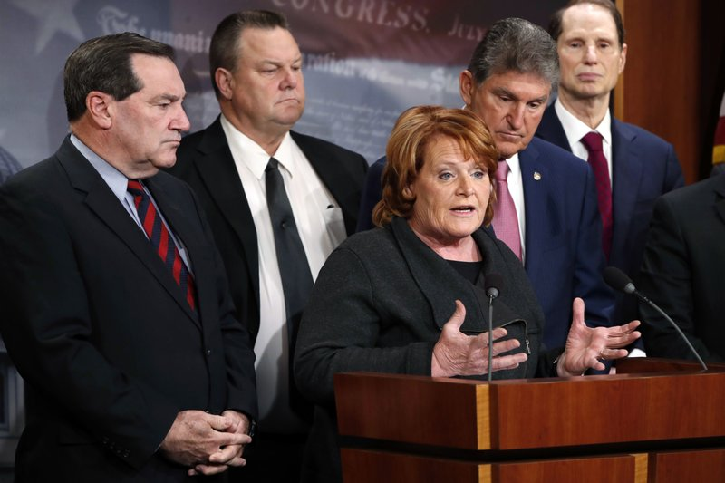 Heidi Heitkamp, Joe Donnelly, Jon Tester, Joe Manchin, Ron Wyden