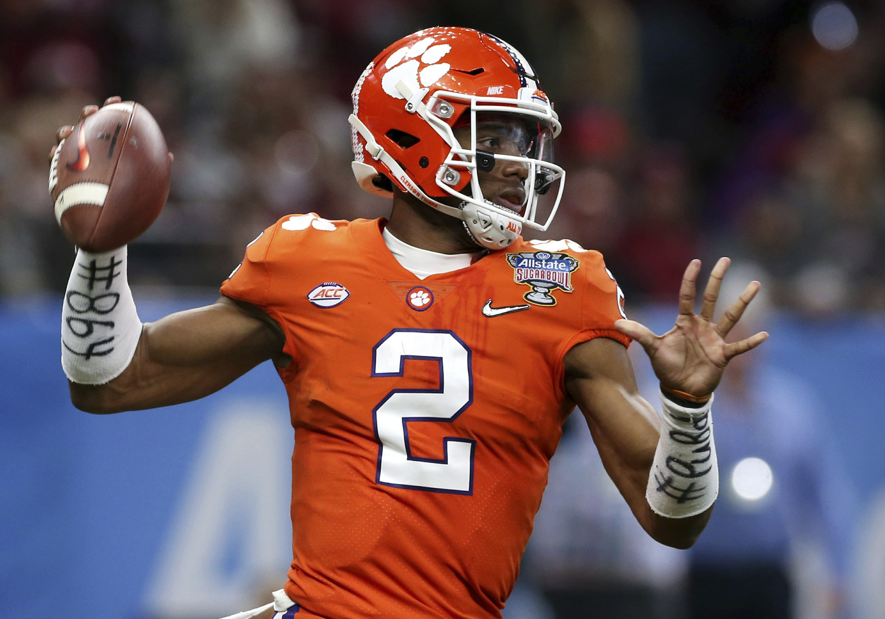 The Latest: Clemson within 10-6 of Alabama at Sugar Bowl