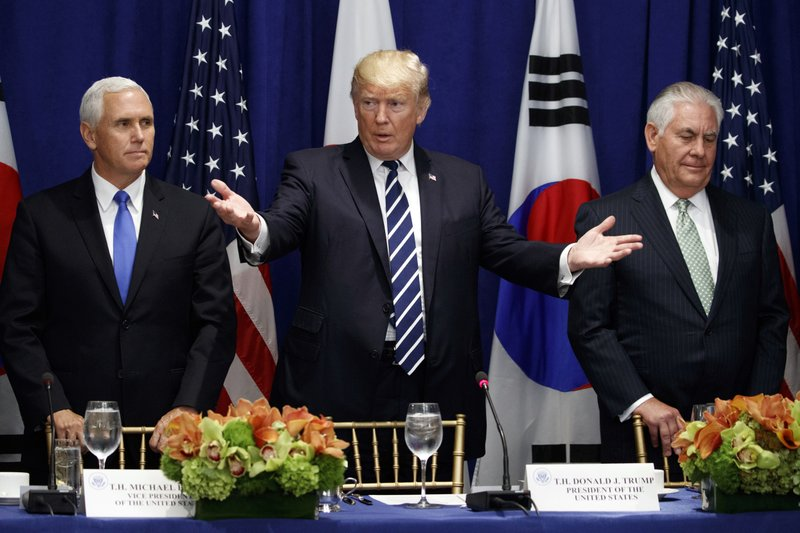 Donald Trump, Rex Tillerson, Mike Pence