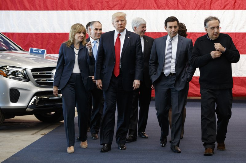 Donald Trump, Mary Barra, Scott Pruitt, Rick Snyder, Mark Fields, Sergio Marchionne