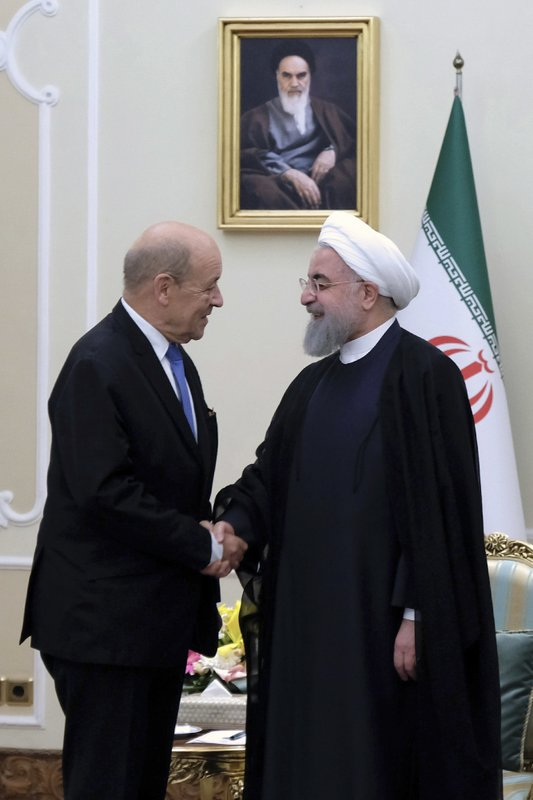 Hassan Rouhani, Jean-Yves Le Drian