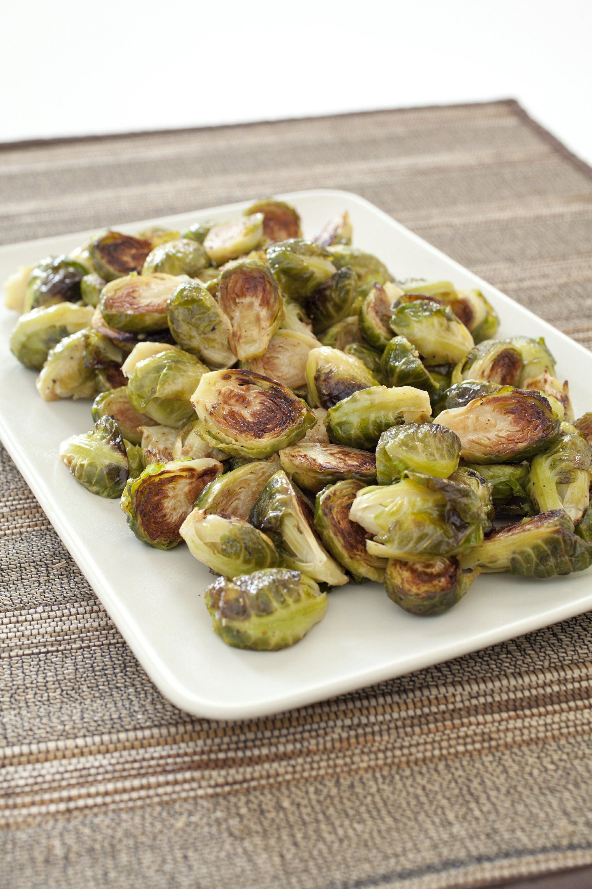 Roasting gets Brussels sprouts caramelized on the outside